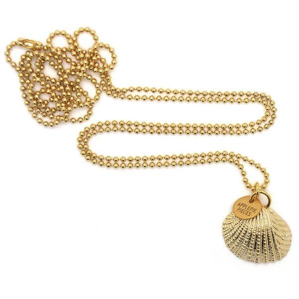 Gouden schelp - Golden clam ketting - #Applepiepieces Echt mooi deze