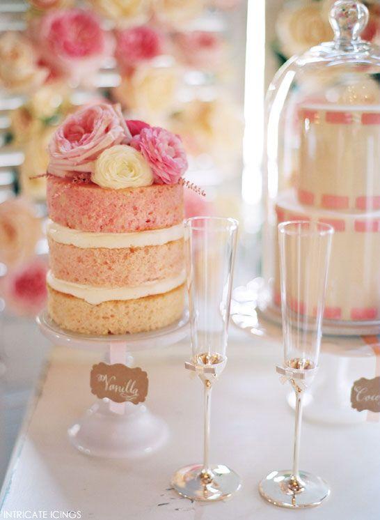 Vintage Rose Cake Display   by Intricate Icings   #PinkWeek on TheCakeBlog.com