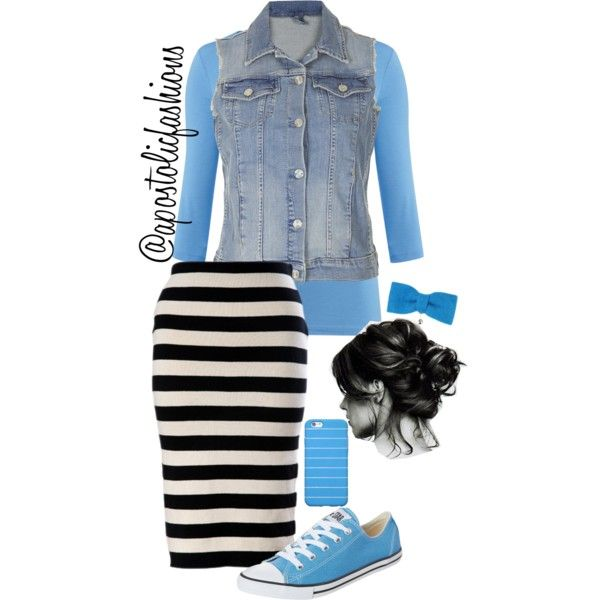 Apostolic Fashions #508 by apostolicfashions on Polyvore featuring The Department, Topshop, Converse and Republic of Pigtails