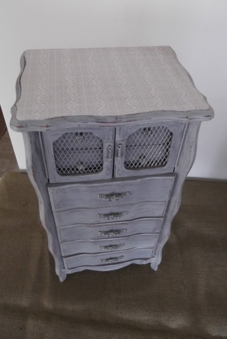 XXL Tall Jewelry Box in Barnwood Grey and French Lace. $130.00, via Etsy.