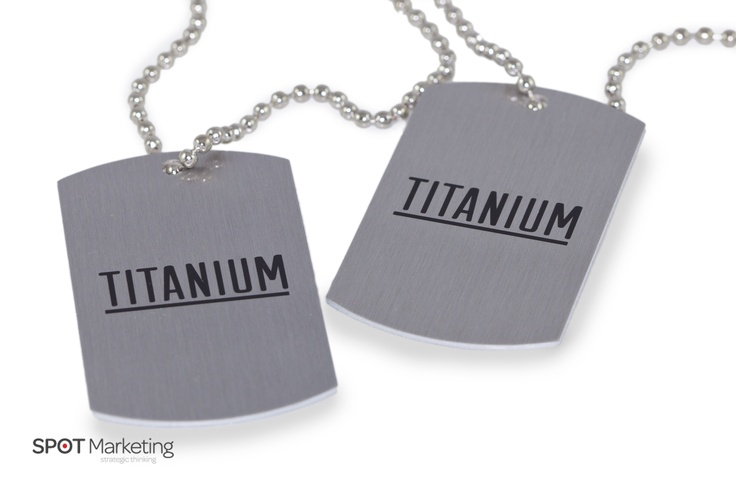 It's not quite 'Titanium' but these dog tags make a stunning item to support The Edge's launch of the new boy band.  Check them out at www.titaniummusic.net