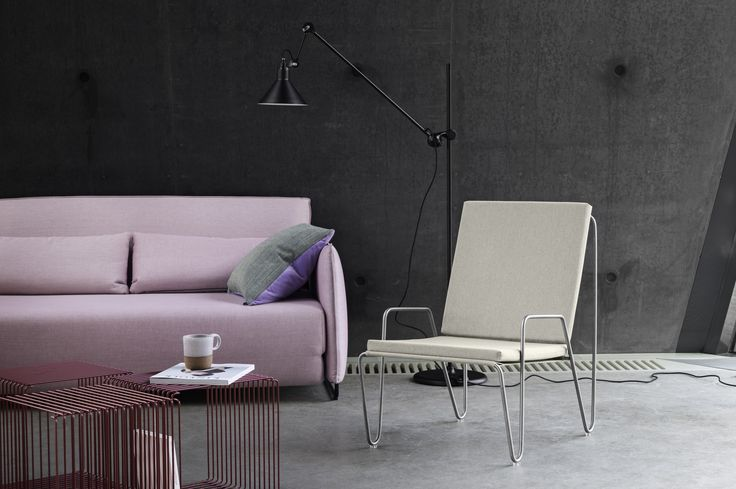 Panton Wire and Panton Bachelor lounge chair.