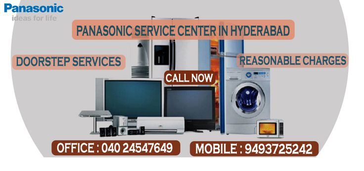 Panasonic Service Center in Hyderabad, is genuine and kosher, prociding doorstep services at every location in twin cities of telangana with in-time services. We provide services and repairs for any brands and any electronic appliance like TV, refrigerator, micro oven, air cooler, air conditioner of any brand.