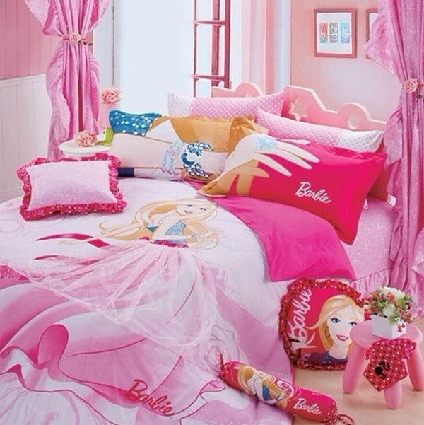 31 best Girls Bedroom Decor Sets images on Pinterest Girls Bedding  30 Princess and Fairytale Inspired Sheets to Invite Magic  Into Your Kids Bedroom. Barbie Bedroom Decor. Home Design Ideas