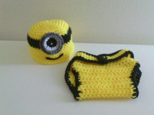 Newborn Hat And Diaper Cover | AllInADaysWork - Crochet on ArtFire