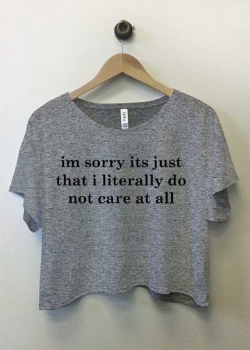 Do Not Care At All, Sorry: Custom Misses Bella Flowy Boxy Lightweight Crop Top T-Shirt - Customized Girl