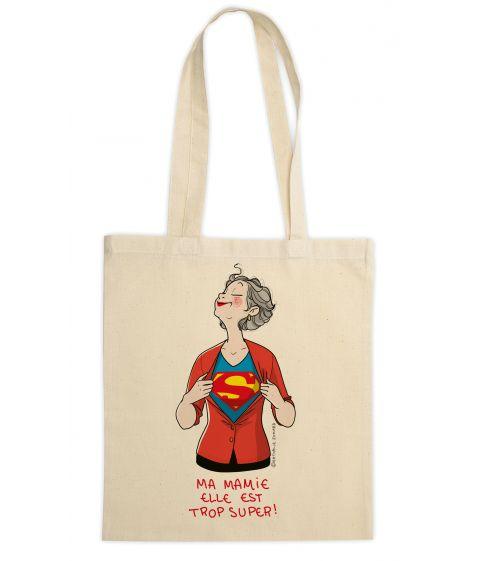 Cadeau Fête des grands-mères : Sac Super-Mamie