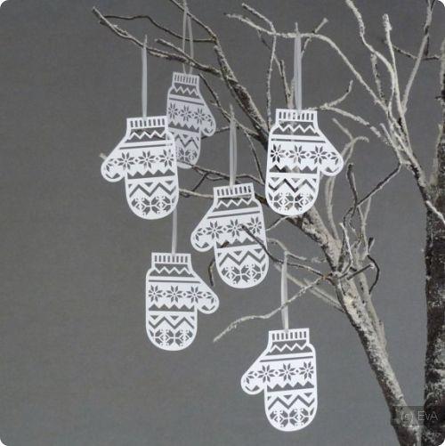 Варежки из бумаги для новогоднего декора / Рукодельница / EvA