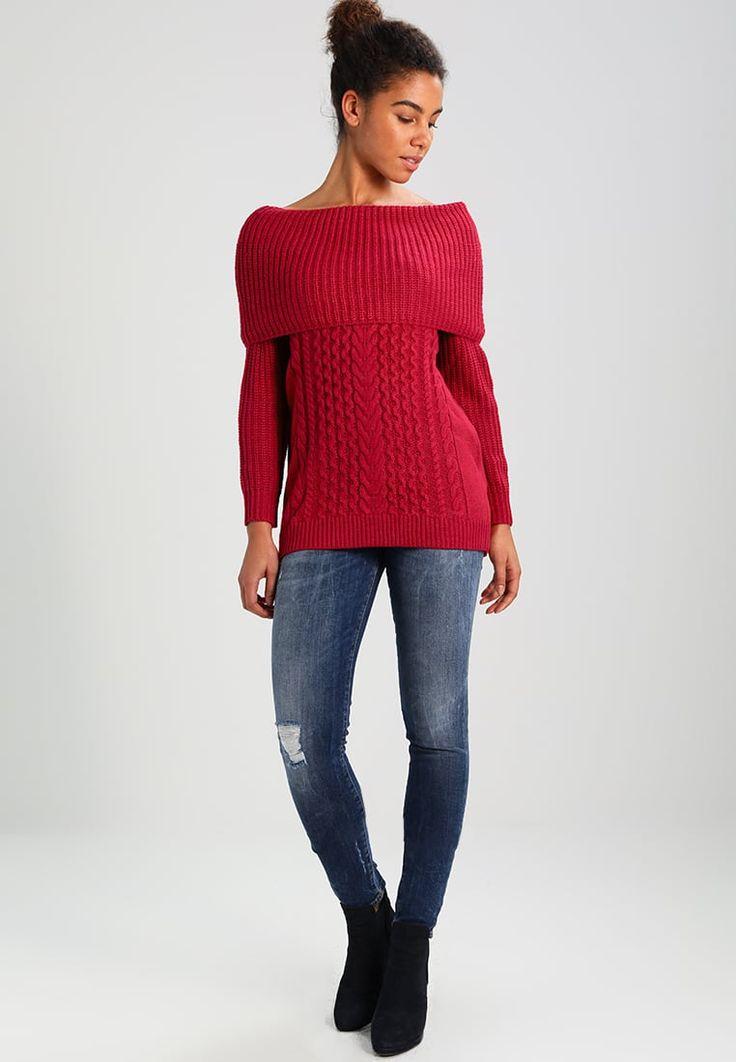 ¡Consigue este tipo de jersey de punto de Naf Naf ahora! Haz clic para ver los detalles. Envíos gratis a toda España. NAF NAF MANDA Jersey de punto cranberry: NAF NAF MANDA Jersey de punto cranberry Ropa   | Material exterior: 85% poliacrílico, 10% lana, 5% alpaca | Ropa ¡Haz tu pedido   y disfruta de gastos de enví-o gratuitos! (jersey de punto, pullover, lana, knitted, cotton, knit, knits, stitch, cashmere, knitwear, strickpullover, jersey tejido, jersey au tricot, jersey lavorato, pu...