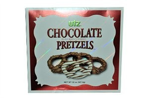 Utz Chocolate Covered Pretzels     http://www.thecandylandstore.com/wholesale-bulk-candy/utz-pretzels.html