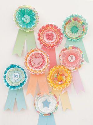 Cupcake liner awards for egg race and potato sack race winners! :)