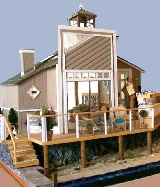 Dollhouse Miniatures Amsterdam: 17 Best Images About Miniature Beach Houses And Nautical