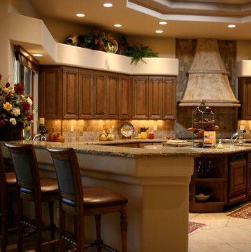 Cabinet style and color! Mediterranean Estate - Mediterranean - Kitchen - Phoenix - Chimera Interior Design