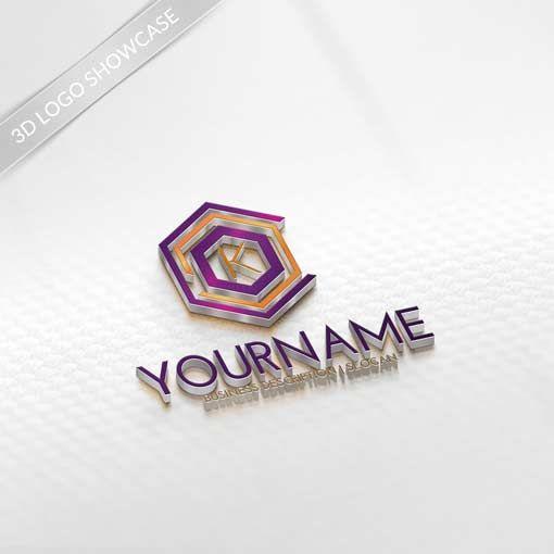 Letters logo design 3D-LOGO-MAKER-letters-logos