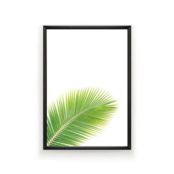 Palm Leaf Print Tropical Leaf Print Printable Palm Leaf #palmleaf #tropicalprint #palmleafprint #digitalprint #tropicalwallart #homedecor