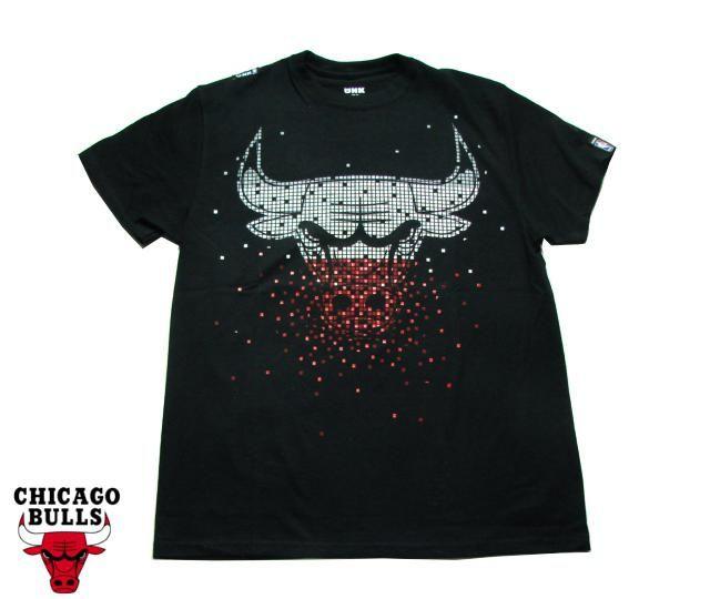"""【CHICAGO BULLS】 Tシャツ """"TETRIS"""" TEE ブラック S-2XL【半そで】【T-シャツ】【BLACK】【シカゴ・ブルズ】【NBA】【バスケ】【ジョーダン】【スポーツ】【黒】【メンズ】【ビッグサイズ】【あす楽】【楽天市場】"""