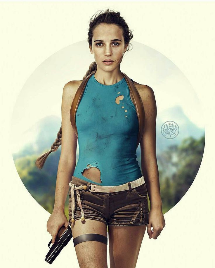 Can't wait! I think she'll kill this role. From @dc_v_marvel - Alicia Vikander as Lara Croft by @stevedesignsthings ● ● ● #tombraider #laracroft #aliciavikander #edit #videogame #gamer #gaming #xbox #xboxone #playstation #ps4 #videogames #art #cool #new #news #movies #movienews #film #movie #updatesincinema