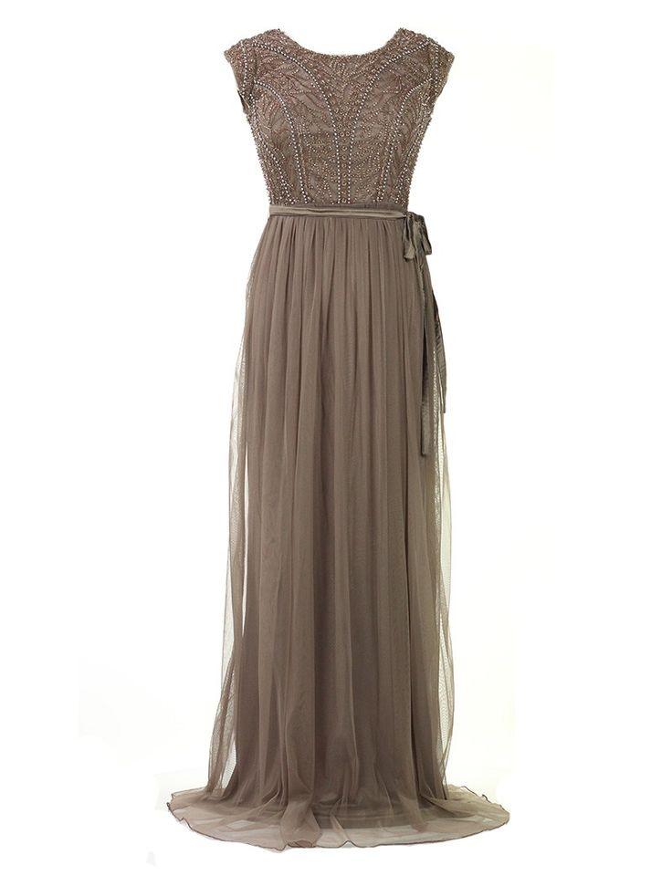 Lange jurk met rok in tulle en vierkante uitsnijding op de rug -  100% polyester Enkel droogkuis De jurk meet 150cm vanaf de schouders.