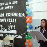 Lucía Corpacci encabezó el lanzamiento de la Jornada Extendida en la escuela San Jorge