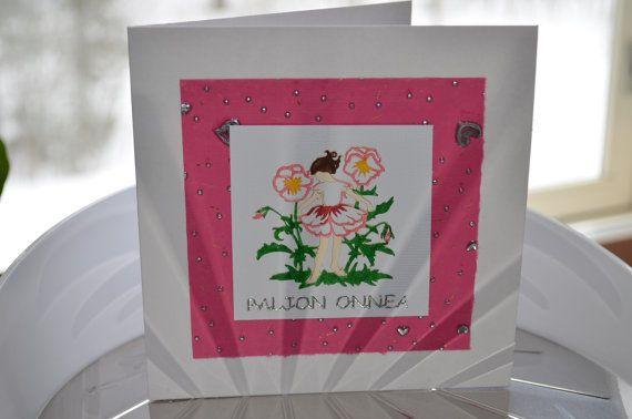 Card for many occasions Birthday Baby girl Baby shower / Kortti eri tilaisuuksiin