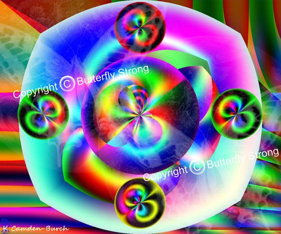 Coded Dimensions  Print created intuitively by KaiciCodedArt, $16.95