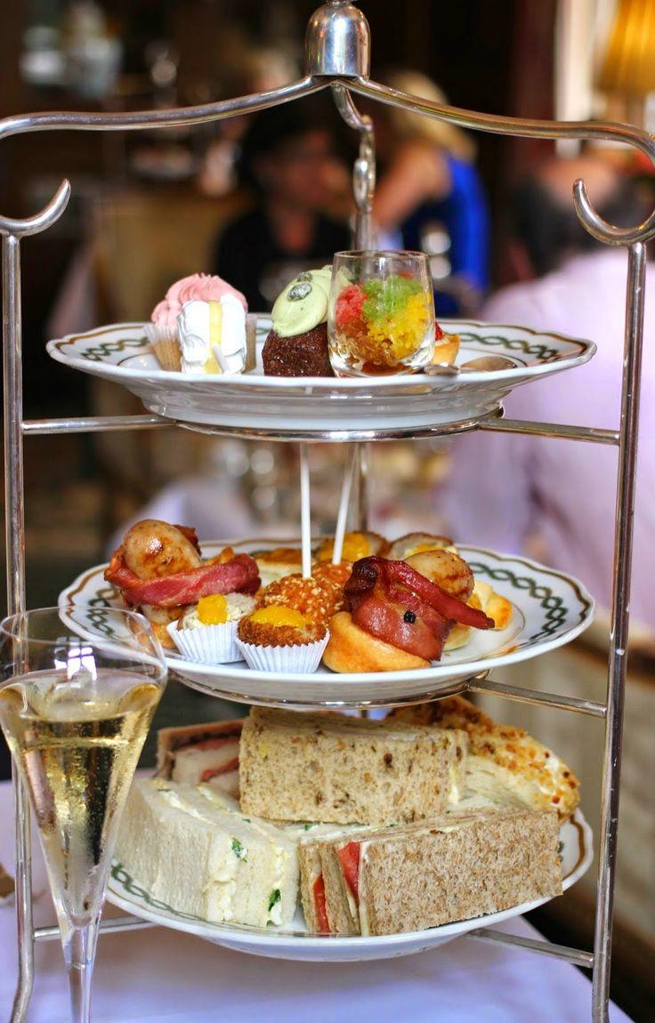 Gentleman's afternoon tea at the Milestone Hotel.
