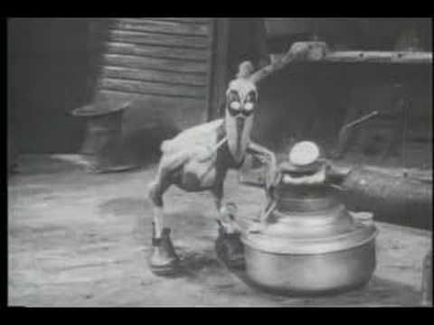 'It's a Bird', A Stop-Motion Short From 1930 in Which a Bird Eats a Car and Gets Knocked Out by a Talking Worm