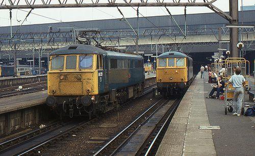 BR Class 86 86221, London Euston, 9th. July 1983