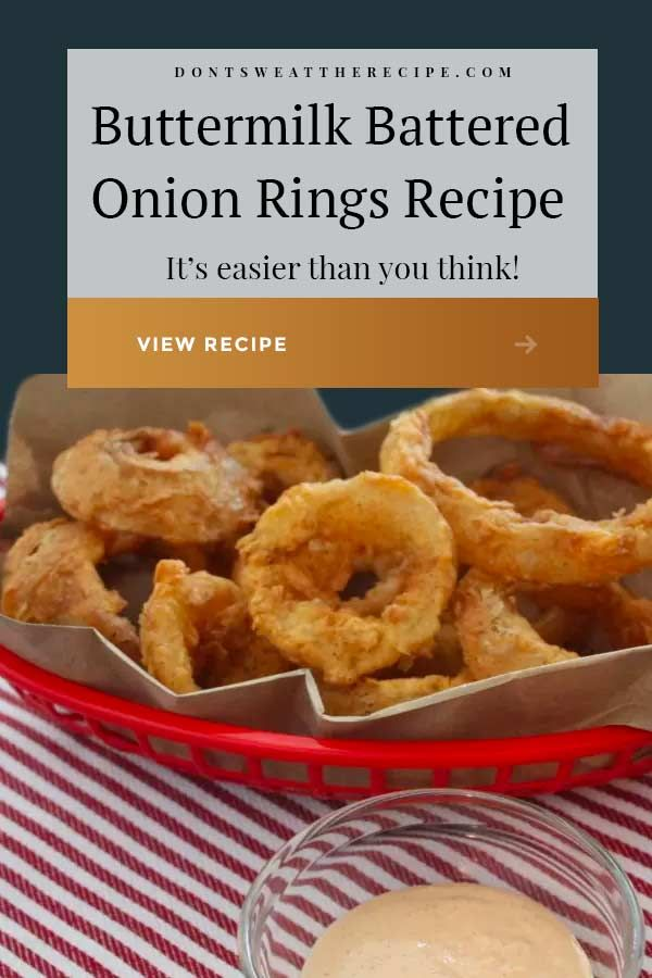 Crispy Crunchy Deep Fried Buttermilk Battered Onion Rings This Recipe Is Very Similar To The Bloomin Onion In 2020 Onion Rings Recipe Recipes Indian Food Recipes