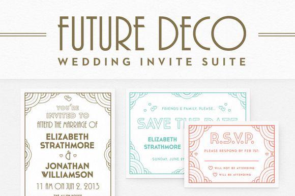 futuredeco wedding invite suite  creative the o'jays and wedding, wedding cards