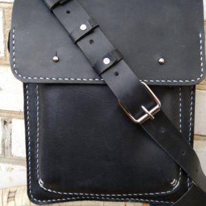 9fffeffaf9cf Мужская кожаная сумка из кожи Крейзи Хорс черная | My leather bags ...
