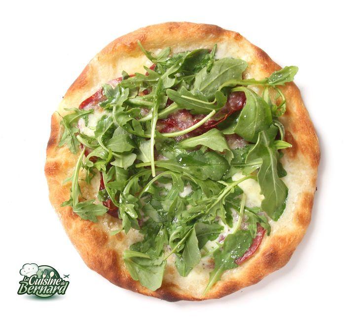 Pizza blanche, pâte sur poolish