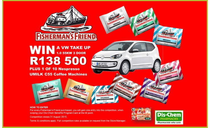 Win a VW Up with Dis-Chem & Fisherman's Friend