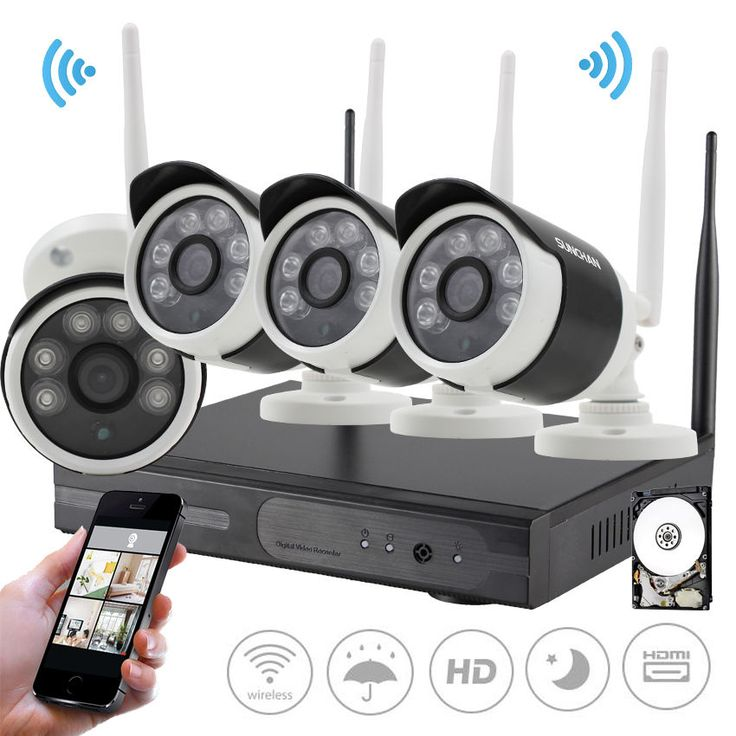 4CH 960P Wireless Security Camera System 1TB 4 Indoor Outdoor Night Wifi NVR Kit…