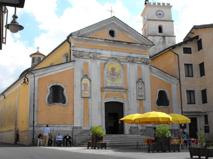 The church dedicated to Santa Maria degli Angeli in the municipality of Salerno Acerno. It hits the dome in the intense red and the wooden roof.