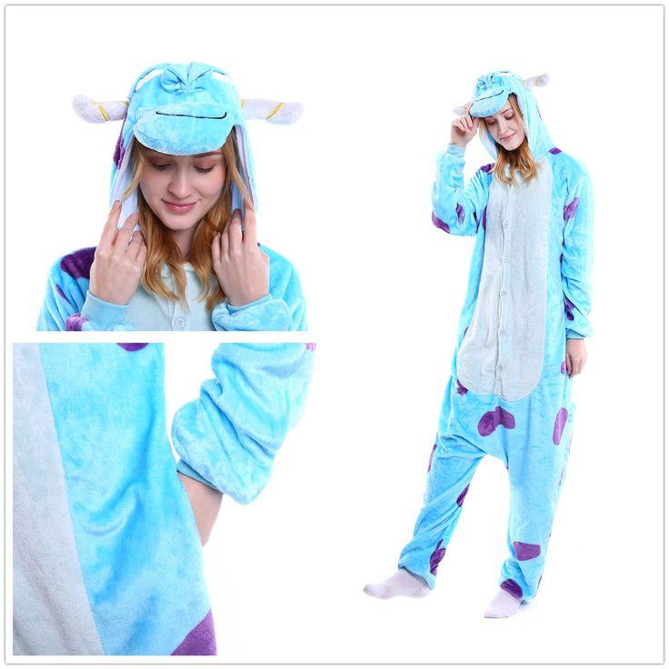 Blue Sully Monster Onesies kigurumi Pajamas