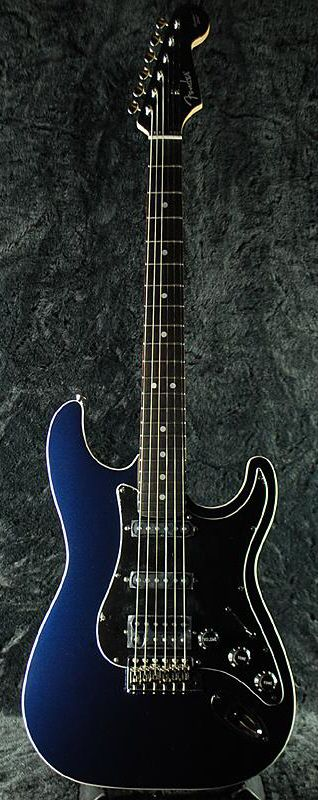 Fender Japan AST-M/SSH Aerodyne Stratocaster Guitar (Gun Metal Blue)