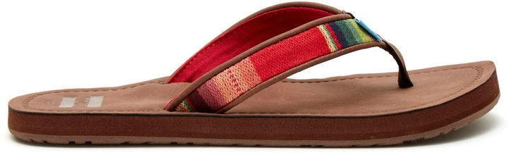 Brown Multi Textile Women's Solana Flip-Flops