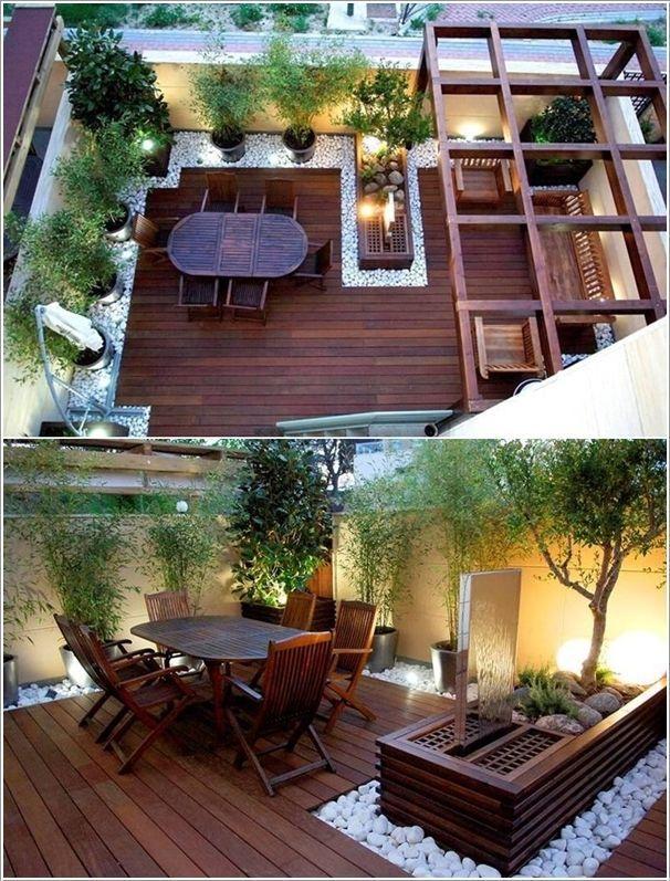 balcon, bois, caillebotis, décoration, terrase bois, terrasse