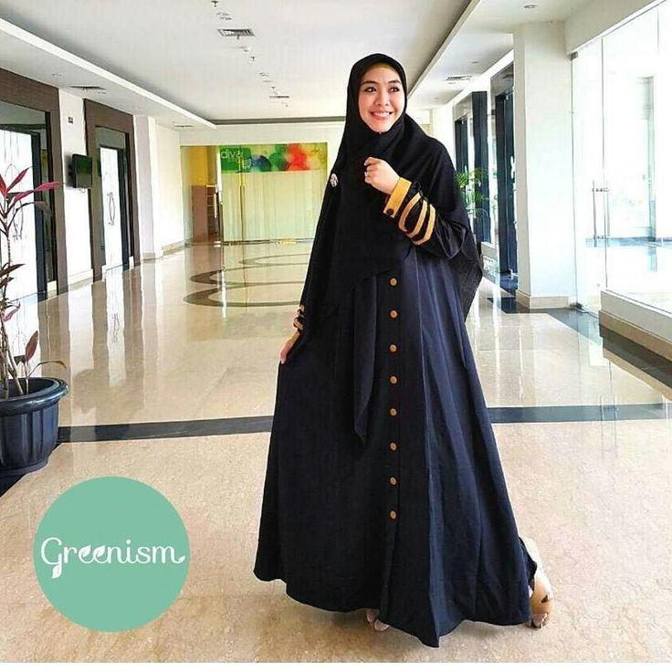 Gamis Greenism Abaya Syakira Black Gold - baju muslim wanita baju muslimah Untukmu yg cantik syari dan trendy . . - Bahan balotelly - Busui bumil dan wudhu friendly - Hiasan di pergelangan tangan - Kancing bukaan dada selebihnya kancing hiasan - 1 Kantong aktif - Tidak termasuk hijab . . Size chart: XS: LD 90/PB 130 S: LD 95/PB 135 M: LD 100/PB 138 L: LD 104/PB 140 XL: LD 110 /PB 142 . . Ready size L XL Harga Rp 250.000 (gamis saja) . . Yuuk pesan sekarang juga hanya di Gamis Hijab Shabby…