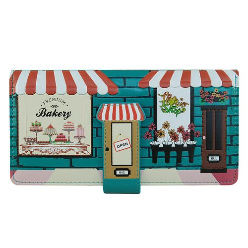 OMG! How cute is this Vintage Store Front Bakery Wallet? And how unique, too? So .. you've parked your bike out back and as you lesurely stroll down the cobble stone street on your way to the best sweets shop in town, you pass your favorite little flower shop