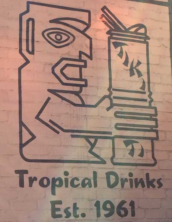 Vintage Tiki Restaurant Menu Art Perfect for accenting walls, creating beautiful photo murals or craft ideas. Decorate your walls with vintage Exotica Tiki. Comes prepared to hang on walls. 8x10 decoupaged wood art 1/6 thick     Please allow 1-2 weeks to receive . We can take custom requests as well. Please send us a message if interested..