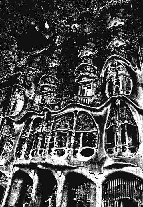 Gaudi Casa Batlló Barcelona. Photography & Photoshop by Peter Carman 2006