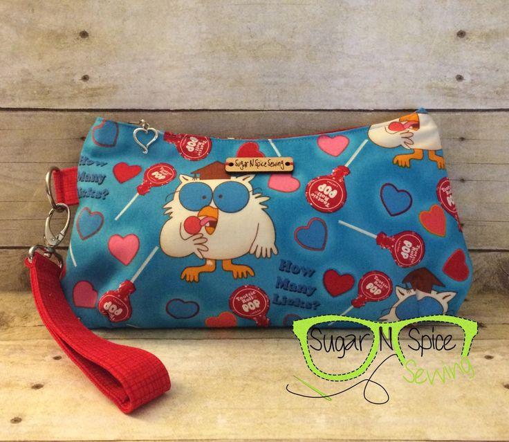 Tootsie Roll Pop clutch, How Many Licks, Mr Owl, geeky girl purse, geeky wristlet, fandom clutch, Coraline clutch by SugarNSpiceSewing on Etsy