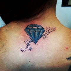 diamante azul (Lello Tattoo Itaquera-SP) Tags: tatuagem sombreado ...