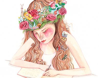 """Check out new work on my @Behance portfolio: """"Girl imagination""""…"""