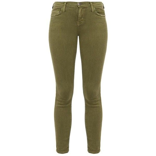 The Stiletto Army Green Skinny Jeans ❤ liked on Polyvore featuring jeans, olive green jeans, skinny jeans, denim skinny jeans, army green skinny jeans and army green jeans