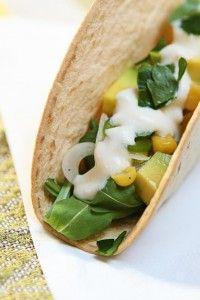 tacos vegani mango e avocado