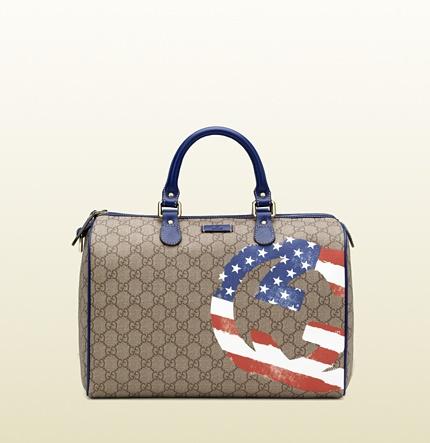 Gucci USA GG flag collection boston bag