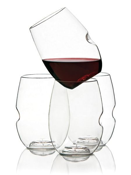 Go vino wine glasses set of 4 the look of real glass Wine glasses to go